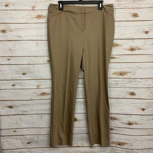 Chico's City Chic Trouser Taupe Career Pants NWT